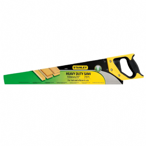 "Stanley 120091 Heavy Duty Sharpcut Hand Saw 550mm / 22"" 7tpi"